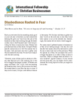 Disobedience rooted in fear