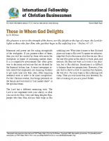 Those in whom God delights