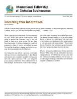 Receiving your inheritance
