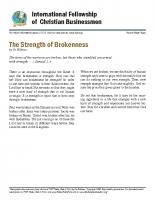 Strength of Brokeness