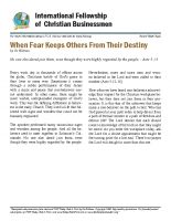 Fear Keeps Others from Destiny