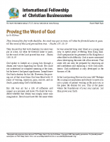 Proving the word of God