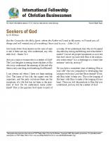 Seekers of God