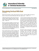Remaining vertical with God