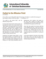 Called to the mission field
