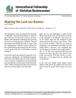 Making the Lord Our Banner