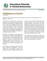 Faithfulness to Convict