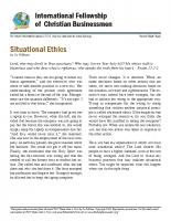 Situational ethics