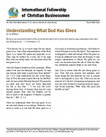 Understanding what God has given