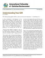 Understanding Your Gift